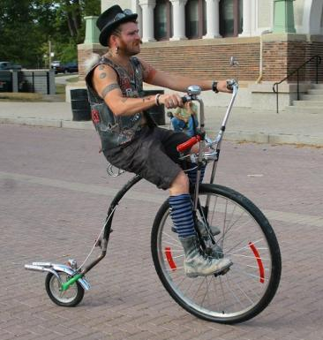how to make a penny farthing